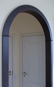 Ламинированная арка в цвете Венге